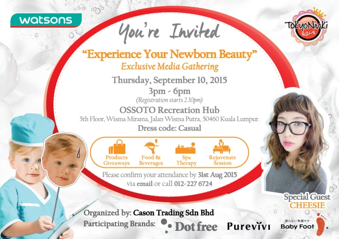 Watsons Dotfree Media Event- Invitation