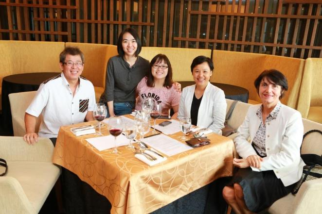 L to R - Eric Lim(Raintree Sustainable Produce), Chang Lay Hoon, Ling Mei Lee, Rachael Tai (Why Not Organic), carla gambini (bioagricco.op)